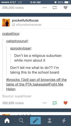 don't be a religious white mom, brownies and PTA tumblr.