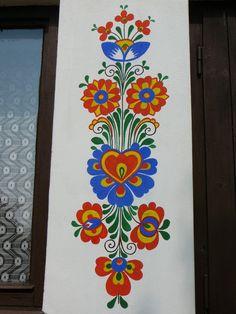 Folk Art Flowers, Flower Art, Flower Prints, Madhubani Art, Madhubani Painting, Polish Folk Art, Folk Embroidery, Home Wall Art, Pattern Art