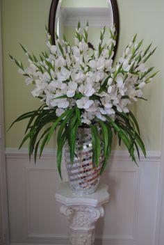 flower arrangements with gladiolus | Christmas Holiday Ideas: SNOW WHITE SILK GLADIOLUS