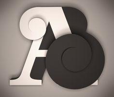 Cinema 4D. 3D Typography. Tipografía 3D. Adam Ballester.