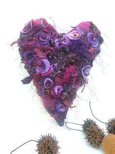 Heart IV fiber art soft sculpture by Cesart64 on Etsy, $79.00