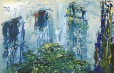 Jack Butler Yeats (Irish, The Fern in the Area, Oil on board, 9 x 14 in. Jack B, Irish Art, Ferns, Impressionist, Butler, Modern Art, Auction, Fine Art, Artwork