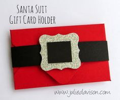 Julie's Stamping Spot -- Stampin' Up! Project Ideas by Julie Davison: Envelope Punch Board: Santa Suit Gift Card Holder - see video
