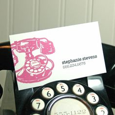 What a great idea for networking cards!! Love it.