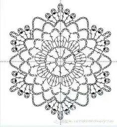 Transcendent Crochet a Solid Granny Square Ideas. Inconceivable Crochet a Solid Granny Square Ideas. Filet Crochet, Mandala Au Crochet, Crochet Stitches Chart, Crochet Puff Flower, Crochet Snowflake Pattern, Crochet Doily Diagram, Crochet Square Patterns, Crochet Stars, Crochet Snowflakes