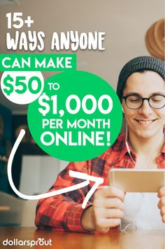 Looking for ways to make money online so you can earn extra income from home? You NEED this list, which is sorted from small side hustles to full blown businesses you can start online