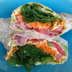 Via: @hns_kbbg | Messy ham and salad Mountain Bread wrap | Healthy Recipe