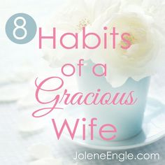 I've always wanted this as well. To be a gracious, NOT bitter wife. This was an encouraging read. - GR