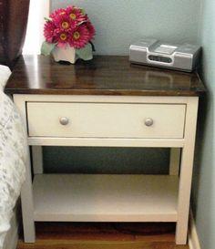 DIY Furniture : DIY Farmhouse Bedside Table