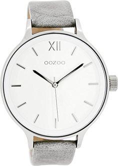 Oozoo-Damenuhr-mit-Lederband-45-MM-WeissGrau-C7891