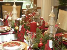Tartan Christmas Tablescape