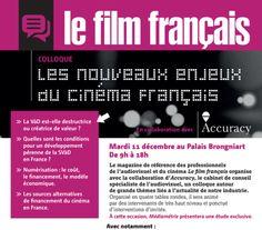Colloque Le Film Français : Les nouveaux enjeux du cinéma français  http://parlons-francais.tv5monde.com/webdocumentaires-pour-apprendre-le-francais/Memos/Culture/p-400-Les-grands-noms-du-cinema-francais.htm
