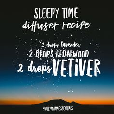 Diffuser recipe for sleep
