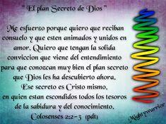 """JESUS PODEROSO GUERRERO: Colosenses 2:2-3 = """"El plan secreto de Dios"""""""