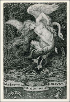 Frank C. Pape ~ Pool of Haranton ~ Figures of Earth ~ 1925