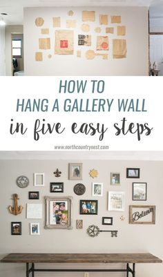 How to Hang a Gallery Wall in Five Steps & 78 best Arranging Wall Art images on Pinterest   Hallway ideas Home ...