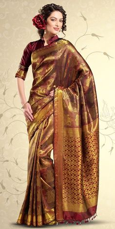 MEHANDI DESIGNS WORLD: Golden Pattu Sarees