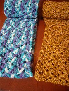 Lacy Crocheted Scarf Pattern FREE pattern, written pattern AND symbol pattern