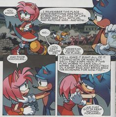 """This is so adorable!!! Read it!!!! Sonic and Amy having a cute """"big bro to little sis moment"""" :3"""