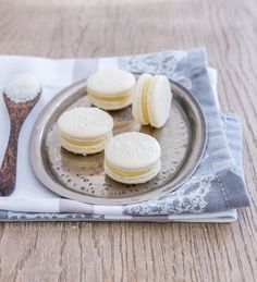 Coconut and Lychee Macarons