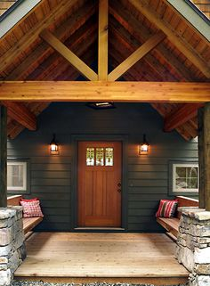 Picture of Custom house number 39571 from Lindal Cedar Homes: worldwide manufacturer of post and beam homes, solid cedar homes, custom log homes, sunrooms and room additions.