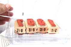 Stampin UP Headline Numbers Rubber Stamp Sets, Retired Stampin UP Set, New, Large Number Stamps, Year Stamps, Scrapbooking Numbers by MyCreativePossession on Etsy