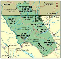 20 best Glacier National Park Map images on Pinterest | Glacier ...