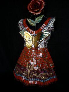 BUTTERFLYZ a mosaic dress by mosaicsbysusan on Etsy, $880.00