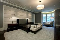 Interior Design, Fantastic Modern Style Padded Wall Panels Gray Interior Design Well Style Picture Best Concepts Grey Color Wall And Flooring Best Roofing And Flooring As Your Well Example ~ Design Your Concepts Of Wall At Home With Best Decoration Of Padded Wall Panels There