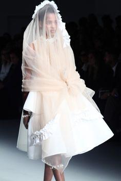 Simone Rocha Sheer Veil With Pearls
