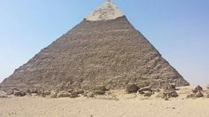 #egypt_travel Chephren Pyramid at Giza with part of its casing. www.egypttravelgateway.com info@egypttravelgateway.com