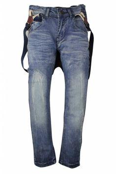 DJ Dutchjeans jeansbroek met bretels