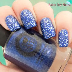 I Love Nail Polish Summer Stargazing stamped with MoYou London Sci-Fi plate 04 using Bundle Monster 17 stamping polish.