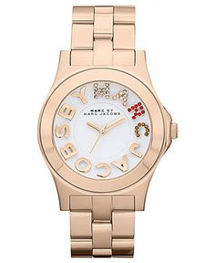 Marc by Marc Jacobs Watch, Women's Rivera Rose Gold Ion Plated Stainless Steel Bracelet 40mm MBM3138 - All Watches - Jewelry & Watches - Macy's