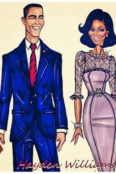 Barack and Michelle Obama;) by rachael