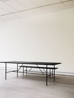 Table and Bench in black | furniture . Möbel . meubles | Design: hay.dk |
