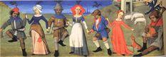 1470s Dancing Peasants by Robert Testard