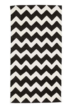 Tappetino cotone a zig-zag - Bianco/antracite - HOME | H&M IT