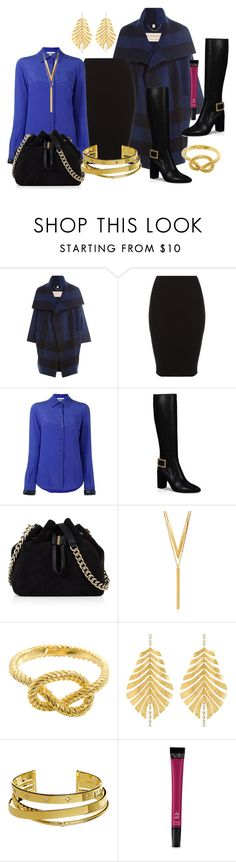 """Work Wear"" by helenaymangual ❤ liked on Polyvore featuring Burberry, Moschino, Roger Vivier, Karen Millen, BERRICLE, Hueb, Elizabeth and James and Victoria's Secret"