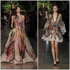 """""""Tulip prints inspired by the designer's mother, Nadia Saab - ELIE SAAB Haute Couture Spring Summer 2015   #chasingadream"""""""