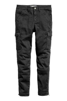 Cargo trousers - Black - Ladies   H&M GB