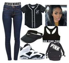 """""""It Wont Stop"""" by itsjustmedaddy ❤ liked on Polyvore featuring Calvin Klein, Frame Denim, NIKE and Victoria's Secret"""