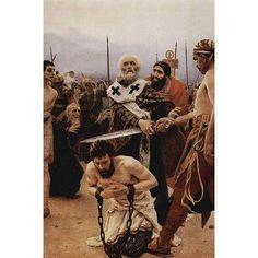 Buyenlarge 'Saint Nicholas of Myra Saves Three Innocents from Death.' by Ilya Repin Painting Print