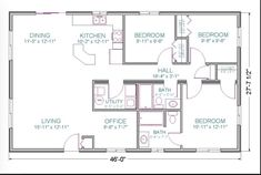 1100 square foot house plan layout