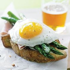 Parmesan Toasts with Asparagus, Prosciutto & Eggs: 2 tablespoons extra ...