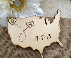 11 best etsys best cake toppers images on pinterest wedding wooden map rustic cake topper see the post at httptulleandtwine gumiabroncs Images