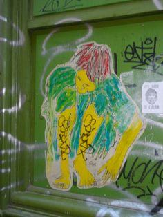 Folded man rue Saint Michel Street Art in Rennes