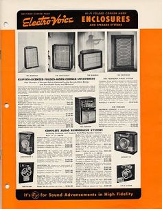 Although designed in the 1960s, these Electrovoice speakers were still popular among DIYers in the 1970s.