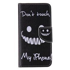 iPhone 6 / iPhone 6S ケース [強化ガラスフィルムを無料で贈ります] OMATENTI Apple iPhone 6/6S 高級PUレザー ケース 手帳型 保護ケース カード収納ホルダー付き 横置きスタンド機能付き マグネット式 スマホケース (P6 ブラック)