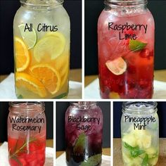 How To Make Amazing Naturally Flavored Fruit Water - 5 Different Flavors